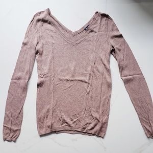 GAP Silk and Cashmere Vneck Long Sleeve Small